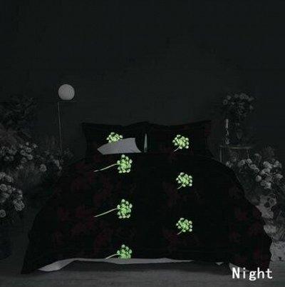 СВК текстиль для спальни. Бюджетно — КПБ Alanna светящийся в темноте — Двуспальные и евро комплекты