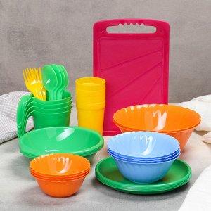 Набор посуды на 4 персоны «Весёлая компания», 36 предметов