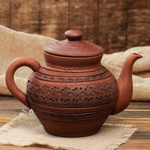 Чайник большой с рисунком, 1,7 л, микс