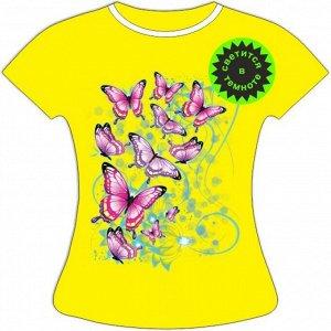Женская футболка с бабочками 1101