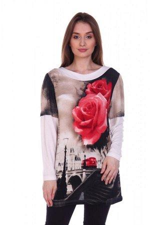 """249 Туника """"Красные розы"""""""
