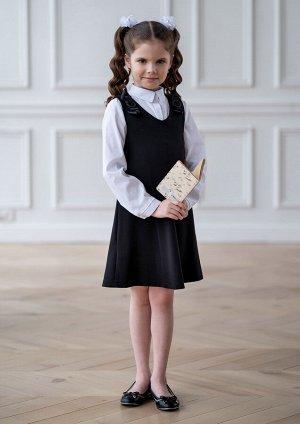 Марлен сарафан школьный черный