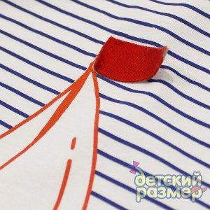 Песочник По 1 шт каждого размера Песочник для малышей: - выполнен из легкого тонкого 100% хлопка - на груди и по низу удобные кнопочки для быстрого переодевания - украшен ярким принтом в полоску и кор