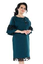 Платье с сетчатой оборкой