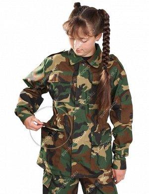 Костюм детский Военно-полевой тк.Рип-стоп цв.Зеленый КМФ