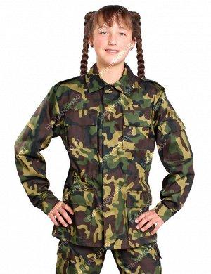 Костюм детский Военно-полевой тк.Смесовая цв.Зеленый КМФ