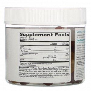 Solumeve, Жевательные таблетки с фолиевой кислотой, без желатина, разные вкусы, 100 вегетарианских жевательных таблеток