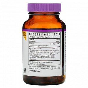 Bluebonnet Nutrition, Комплекс витамина Е, 60 капсул с жидкостью