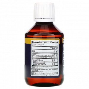 Oslomega, Жир печени норвежской трески, натуральный лимонный вкус, 960 мг, 200 мл (6,7 жидк. унции)