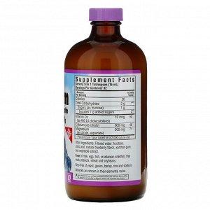 Bluebonnet Nutrition, Цитрат кальция и магния, с витамином D3, в жидкой форме, вкус натуральной черники, 472 мл (16 жидких унций)