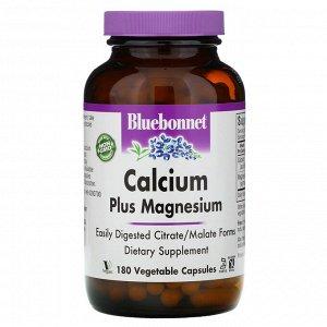 Bluebonnet Nutrition, Calcium Plus Magnesium, 180 Vcaps