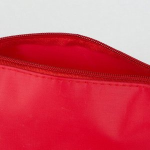 Косметичка дорожная, отдел на молнии, цвет красный
