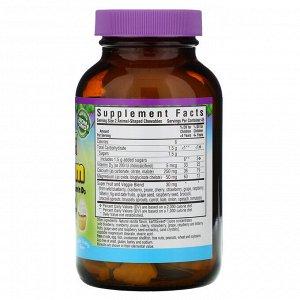 Bluebonnet Nutrition, Rainforest Animalz, кальций, магний и витамин D3 с натуральным ароматизатором со вкусом ванильной глазури, 90 жевательных таблеток в форме животных