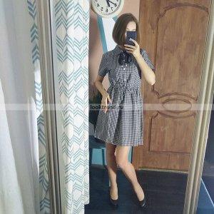 Платье в клетку W-431