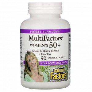 Natural Factors, MultiFactors, Women&#x27 - s 50+, 90 Vegetarian Capsules