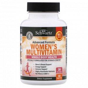 BioSchwartz, Advanced Formula, мультивитамины для женщин, 60 растительных капсул