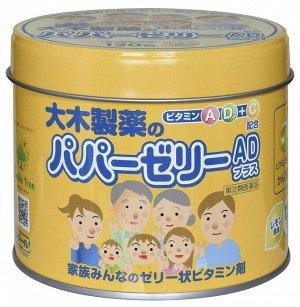 Детские витамины-желе со вкусом лимона Papa Vitamin Jelly в железной банке