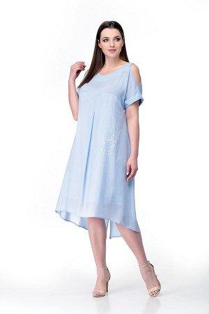 Сарафан 100% хлопок Рост: 164 см. Платье-сарафан на бретельках свободного силуэта из легкой натуральной ткани в мелкий горошек. Платье с неровными линиями низа-спереди короче,сзади длиннее.От кокетки