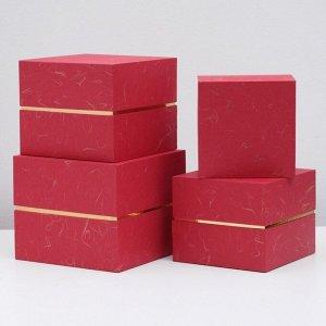 Набор коробок 4 в 1, красный, 24 х 24 х 20 - 18 х 18 х 14 см