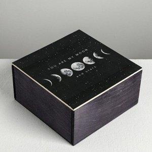 Ящик деревянный с магнитом «Космос», 20 х 20 х 10 см