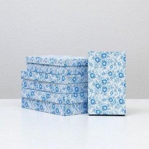 """Набор коробок 4 в 1 """"Гжель"""", 30 х 20 х 8 - 24 х 14 х 5 см"""