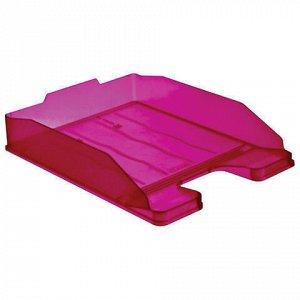 """Лоток горизонтальный для бумаг СТАММ """"Эксперт"""", А4 (340х255х63мм), тонированный фиолетовый (слива), ЛТ208"""