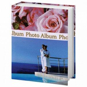 """Фотоальбом BRAUBERG на 304 фотографии 10х15 см, твердая обложка, """"Романтика"""", голубой с розовым, 390675"""