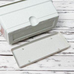 Ящик балконный 40 см, цвет мрамор