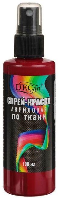 DecArt Спрей-краска по ткани бордовая 100мл