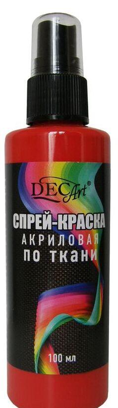 DecArt Спрей-краска по ткани красная100мл