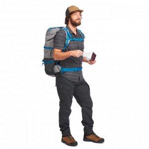 Рубашка мужская для походов и путешествий Travel 100 FORCLAZ