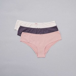 Комплект из 3 пар трусиков-шорт Eco-conception - розовый
