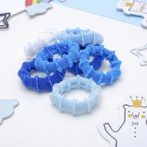 """Резинка для волос """"Махрушка"""" (набор 100 шт) 3 см синие оттенки"""