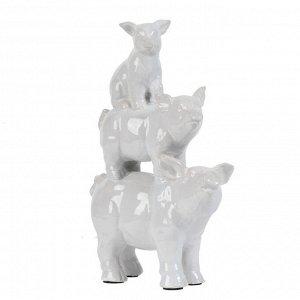 Декор 2200 Пирамида свинки 23*10*3,5cm керамика