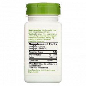 Nature&#x27 - s Way, Корень солодки, 450 мг, 100 вегетарианских капсул