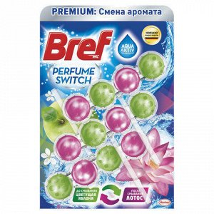 "Освежитель WC (для туалета) твердый 3х50 г BREF (Бреф) Perfume Switch, ""Яблоня-лотос"", 2336888"