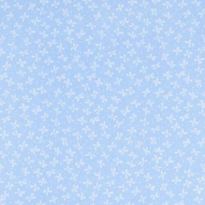 Ткань на отрез бязь плательная 150 см 1738/3 цвет голубой