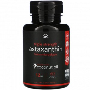 Sports Research, Astaxanthin, Triple Strength, 12 mg, 60 Veggie Softgels