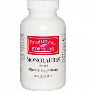 Ecological Formulas, монолаурин, 600 мг, 90 капсул