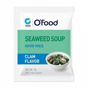"""Суп быстрого приготовления (морская капуста и моллюски) """"Seaweed soup. Clam Flavor""""  7гр/1 шт"""