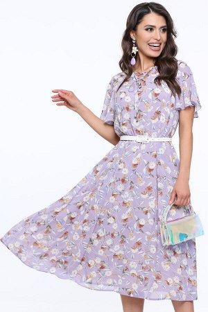 Платье Чувство прекрасного, лаванда, с ремешком