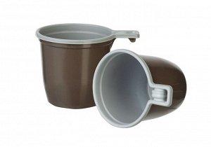 Чашка 200 мл. коричневая., 1*50