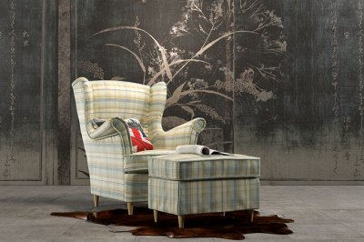 [Egida] Ткани мебельные (Купоны) / Экокожа <Обивка> 🎀  — Обивка мебельная KILT (НСС. Цифровая печать) — Ткани