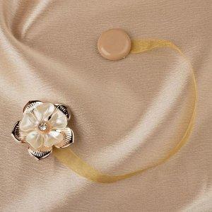 Подхват для штор. «Цветок». d = 5 см. цвет золотой