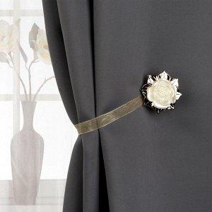 Подхват для штор «Роза». d = 5 см. цвет золотой