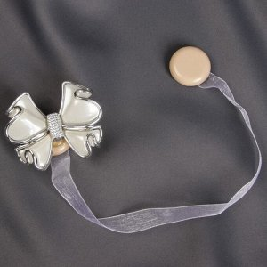 Подхват для штор «Бант». 6 ? 5 см. цвет белый