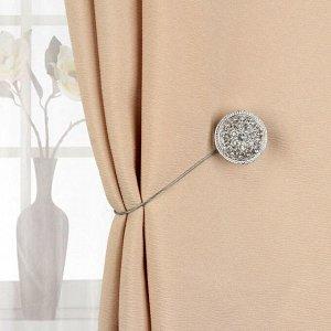 Подхват для штор «Винтаж». d = 4 см. цвет серебряный