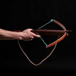 """Сувенирное деревянное оружие """"Арбалет"""", взрослый, коричневый, массив ясеня, 47 см"""