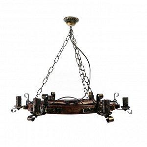 """Люстра деревянная """"Колесница"""". 6 ламп. 73 см"""