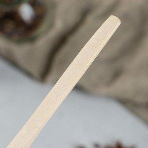 """Ложка деревянная """"Столовая"""", 16 х 4 см, массив бука"""